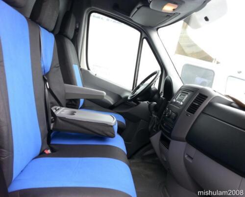 schwarz Sitzbezüge Schonbezüge  2+1 für MERCEDES SPRINTER W906  2006 blau