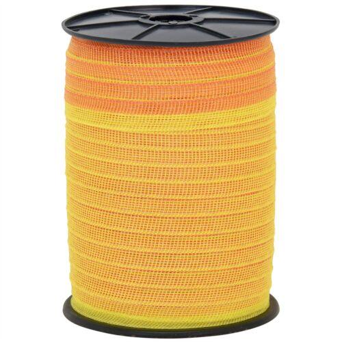 Pferdeband 2000m 20mm Band mit 5 Niro Weidezaunband orange Weidezaun Breitband