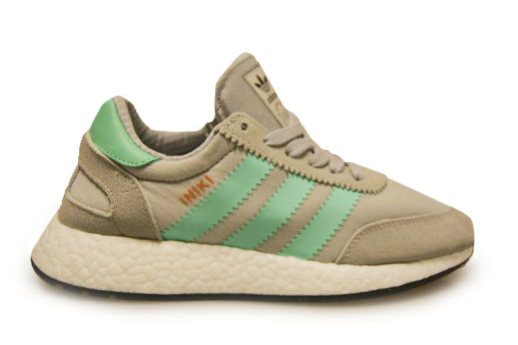 Mens Adidas Iniki Runner Boost - BB2747 - Grey Green Trainers Casual wild