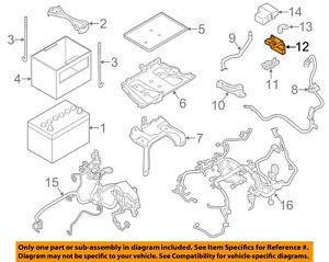 nissan oem 09 14 murano 3 5l v6 battery holder 24380ja00a ebay 2012 Nissan Murano Parts Diagram image is loading nissan oem 09 14 murano 3 5l v6
