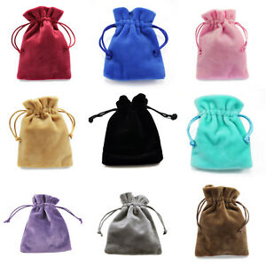 Velvet-Jewellery-Gift-Bags-Drawstring-Pouches-Thick-Soft-High-Quality-Wholesale