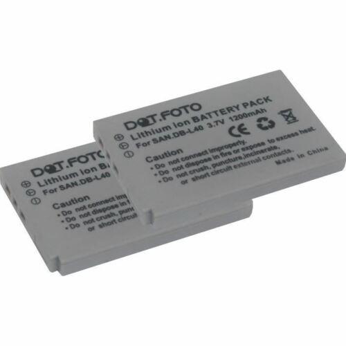 2 X Batería Para Sanyo DB-L40VPC-HD1//HD1A//HD2//HD700//HD800