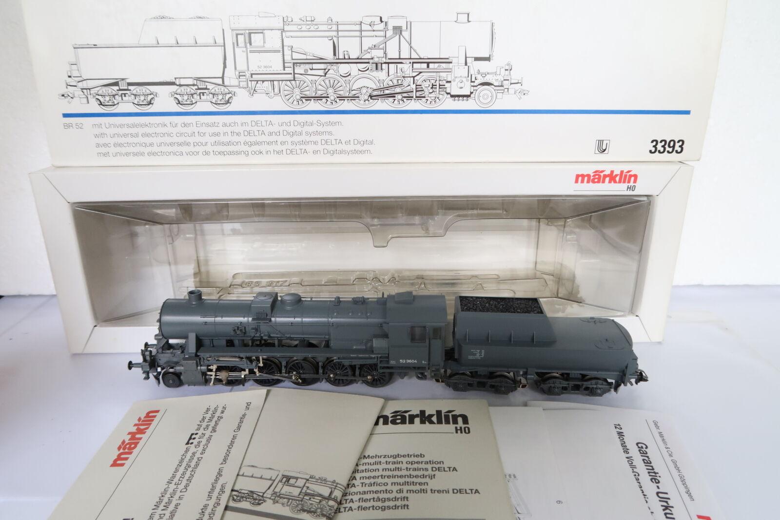Digital Märklin ho ac 3393 vapor Lok br 52 3604 DB (dh 15-102r3 3)