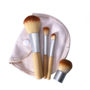 Eg-LX-4-Pezzi-Donna-Cosmetico-Spazzola-Fondotinta-Polvere-Ombretto-Trucco