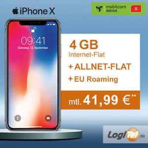 Apple Iphone X 64gb Handy Mit Mobilcom Debitel Vertrag 4gb Allnet