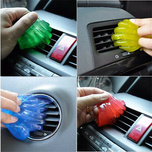 car clean interior vent air outlet storage box dust glue cleaner gel hot sale ebay. Black Bedroom Furniture Sets. Home Design Ideas