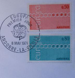 ANDORRE-Yt-212-3-EUROPA-FDC-Enveloppe-Lettre-1-jour-1676