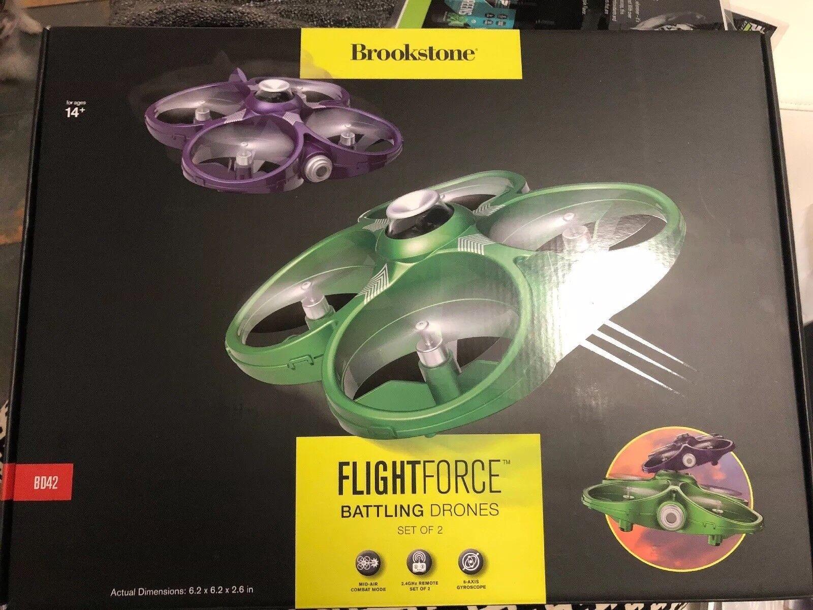 nuevo  LASER TAG-Brookstone BD42 vuelo Conjunto de 2 luchando drones fuerza