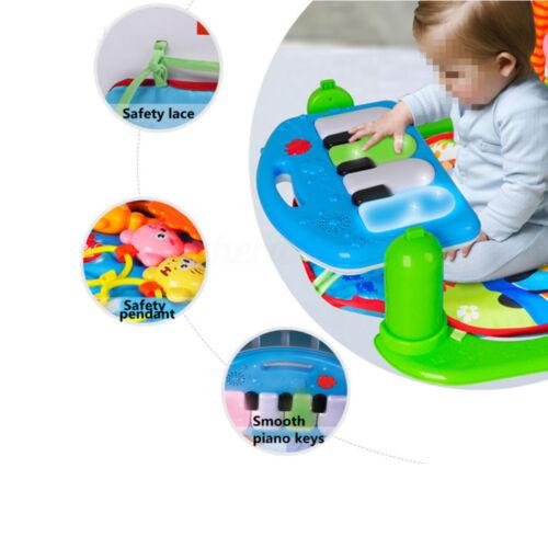 3in1 Krabbeldecke mit Spielbogen Erlebnisdecke Spieldecke Baby Spielmatte Musik