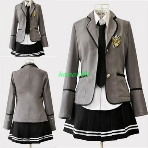 Nouveau Débardeur Filles Slim Robe Uniforme scolaire Japonais manteau jupe Costumes Cosplay