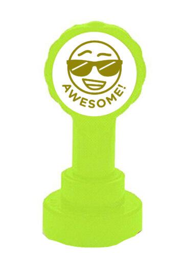 Easy Work Marking Teacher Self Inking Emoji Reward Stamp Awesome Gold ink