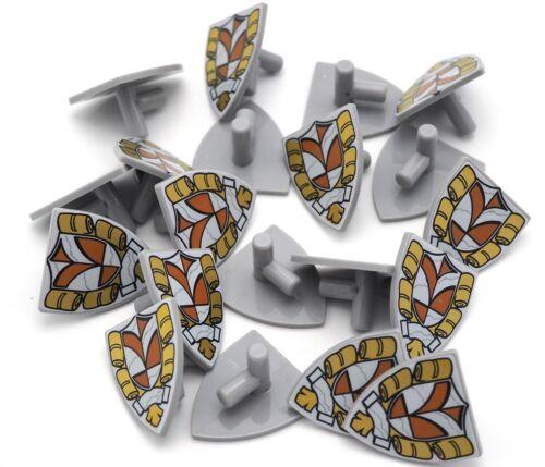 Lego 20 New Light Bluish Gray Minifigure Shields Triangular Castle Town Hall