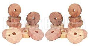 20-Anelli-Anti-Tarme-Cedar-Wood-Fresco-Odore-vestiti-Deterrente-Repellente-Guardaroba
