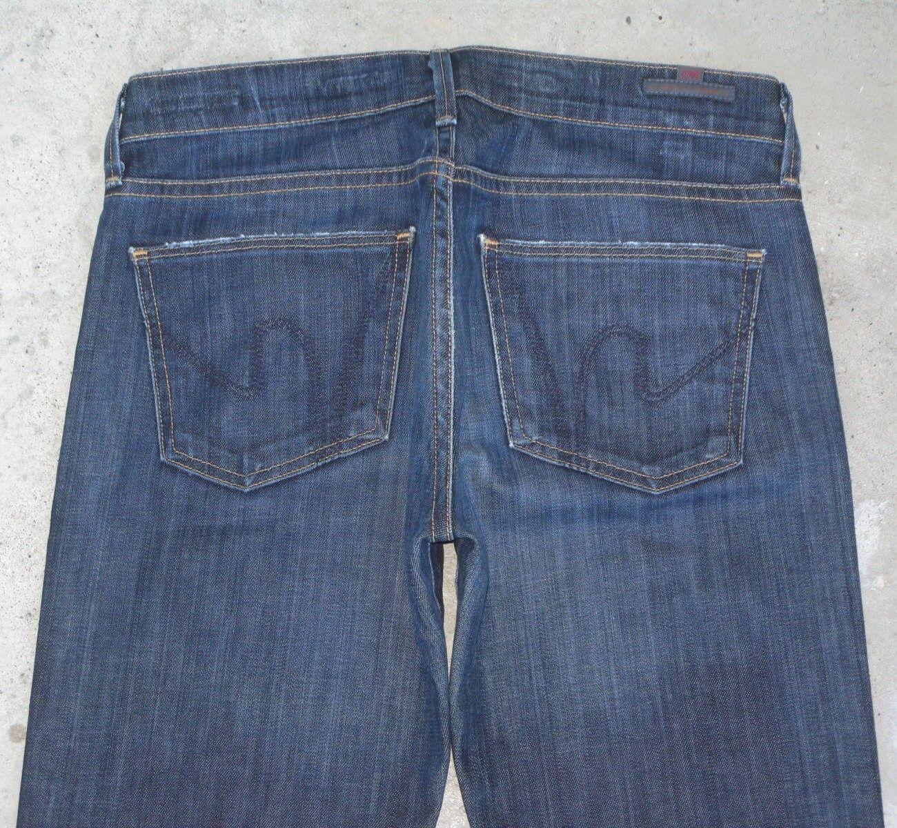 Citizens of Humanity Jeans Dita Petite Bootcut Sz 26 Dark Distressed Stretch