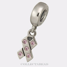 Authentic Pandora Sterling Silver Dangle Breast Cancer Pink CZ Bead 790314PCZ