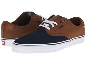 Mens Shoes Vans Chima Pro Navy Tobacco Two Tone
