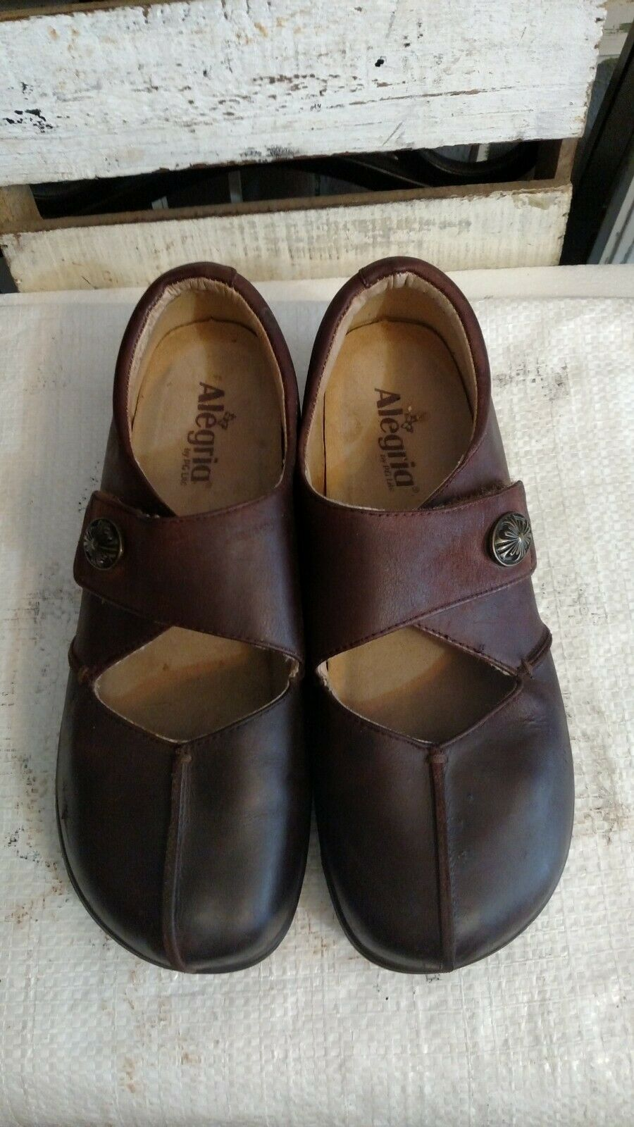 Alegria Kaitlyn Gravy Pull Up Professional Leather Mary Jane EUR 41 US 10.5 - 11