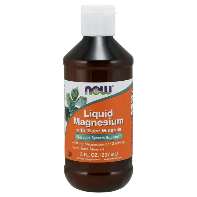 NOW Foods Magnesium Liquid 8 fl. oz FREE SHIPPING. MADE IN USA