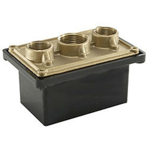 """Pentair Junction Box 3 Capacity ¾/"""" Brass Base with Polycarbonate Cover 78310600"""