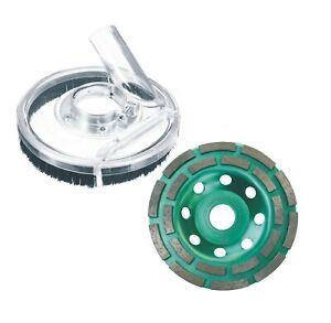 Diamante-125-mm-Incl-Cappa-Aspirante-per-Smerigliatrice-Calcestruzzo