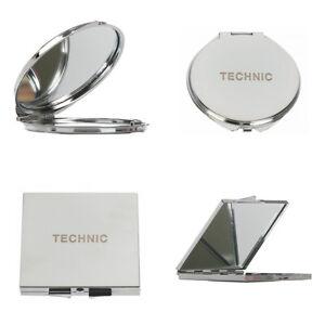 Technic-Metal-Compact-Make-Up-Handbag-Mirror-Magnifying-Dual-Sided