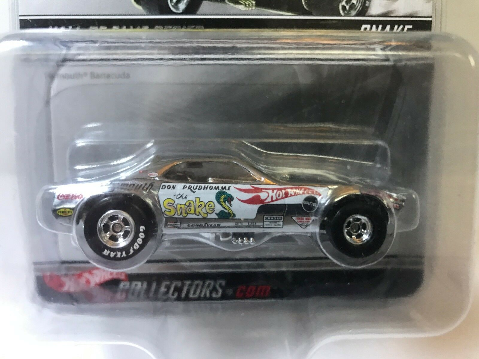 Hot Wheels Hall Of Fame, (Snake) Don Prudhomme Chrome NIBP