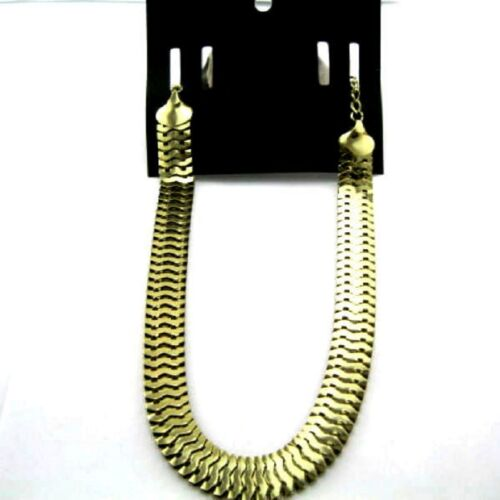 Goth biker style gold coloured snake chain necklace Choker