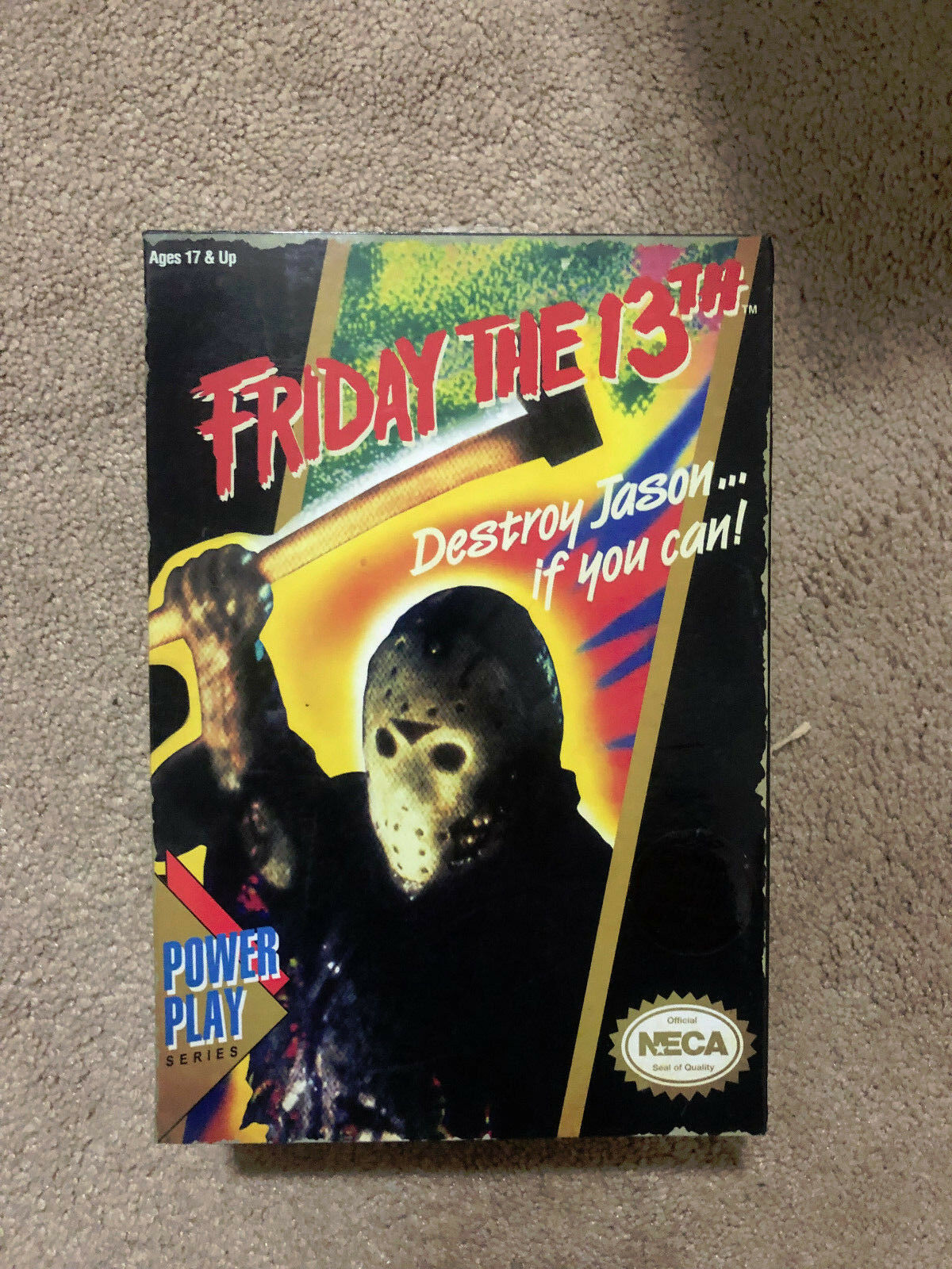 NECA Friday the 13th 13th 13th JASON Video Game 7  Action FIgure MUSIC 8 bit box 064073