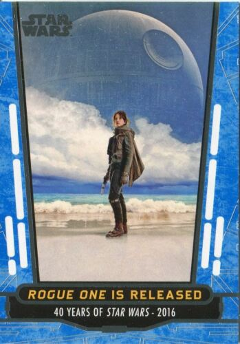 Star Wars 40th Anniversary Blue Base Card #100 Rogue One is Released