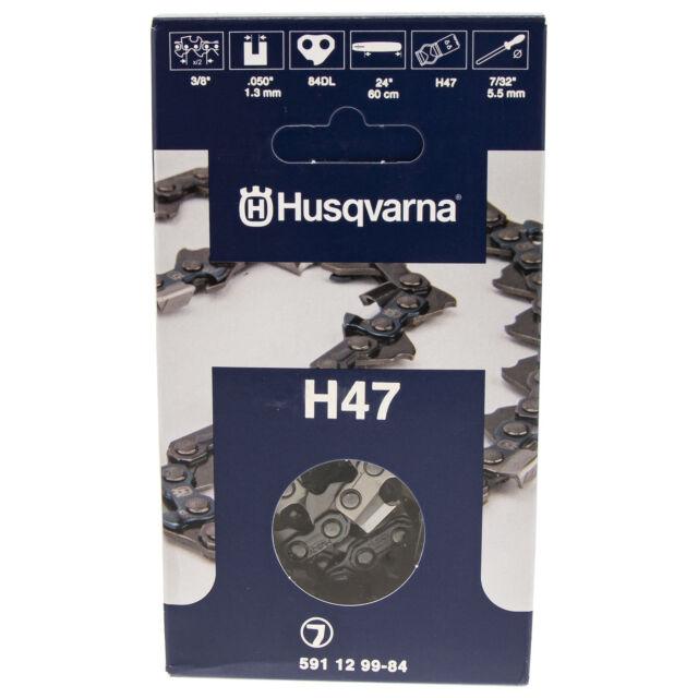 "Husqvarna 591129984 24"" Chainsaw Chain H47 Full Chisel 3/8"" Pitch .050 Gauge"
