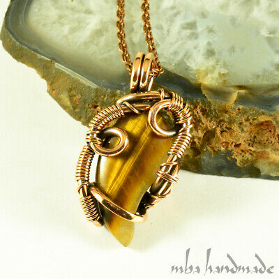 Solid Brass Wire Wrapped Pendant Oth Style Necklace Handcrafted Carnelian Necklace