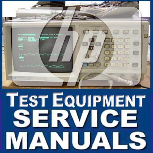 Test Equipment Manuals & Books AGILENT HP TEST SERVICE MANUAL ...