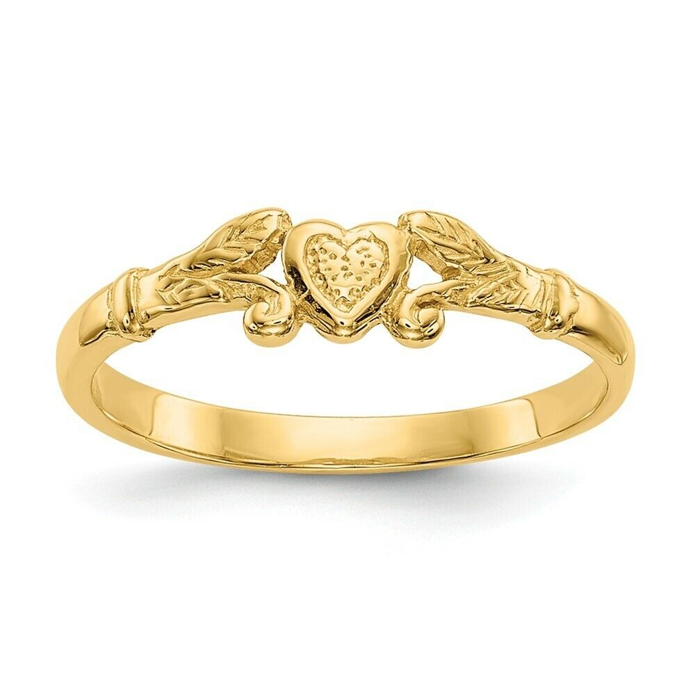 Genuine 14k Yellow gold Heart Baby Ring  0.60 gr