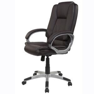 chefsessel b rostuhl braun sport racing kontrast steppung drehstuhl neu rollen ebay. Black Bedroom Furniture Sets. Home Design Ideas