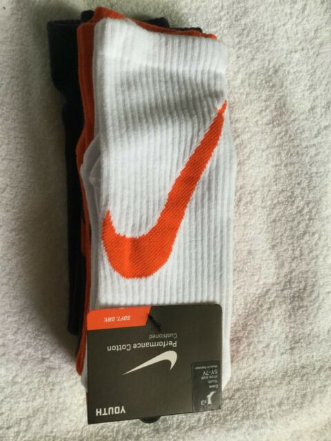 NWT SX4715 942 Nike Performance Cotton Crew Youth Size S 3Y-5Y