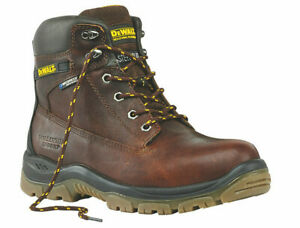 Site Mens Size 7-12 Safety Work Boots Wide Fit Steel Toe Water Resistant Black