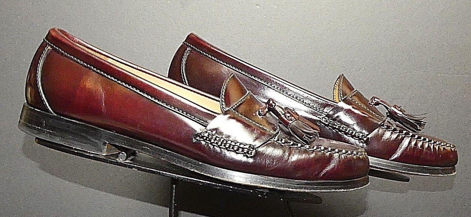 Men's Cole Hann Classic Oxblood Leather Tassel Loafer Sz. 9B Excellent