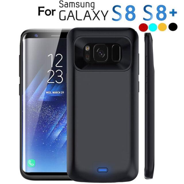 sale retailer fdeb1 fa796 5500mAh External Battery Case Power Bank Charger For Samsung S8 S8 Plus S9  Plus