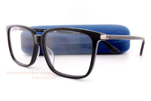 New GUCCI Eyeglass Frames GG 0019 O 001 Black For Men Women ... 0f184548735