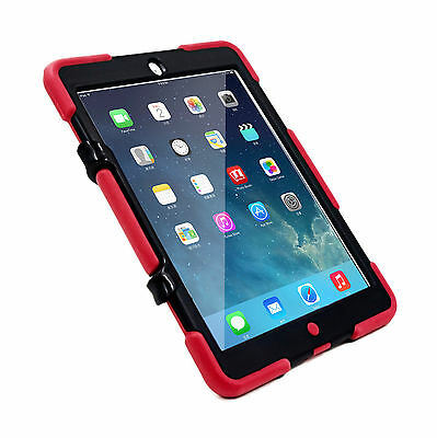 Shockproof Heavy Duty Rubber With Hard Stand Soft Case Cover For iPad Air 1st