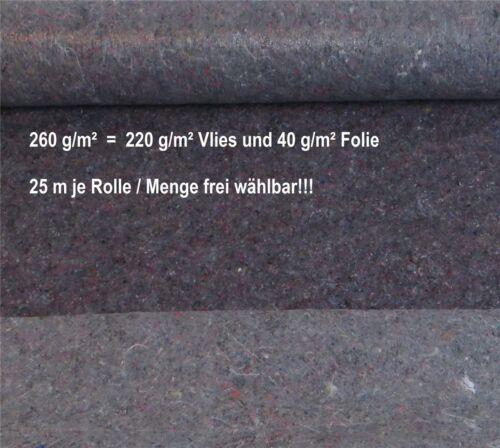 Malervlies 25 m Schutzvlies 260 g//m² Anti Rutsch Bodenvlies 220 g//m² Vlies