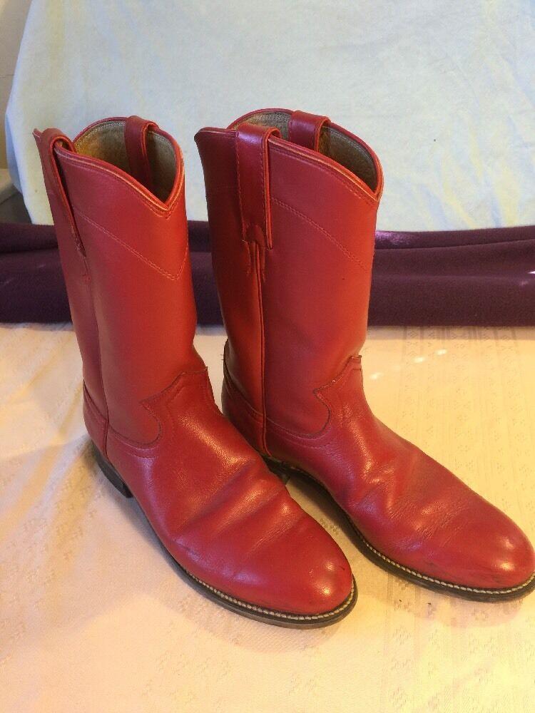 Women's size 7B boots Diamond J Boots Burgundy. Roper style