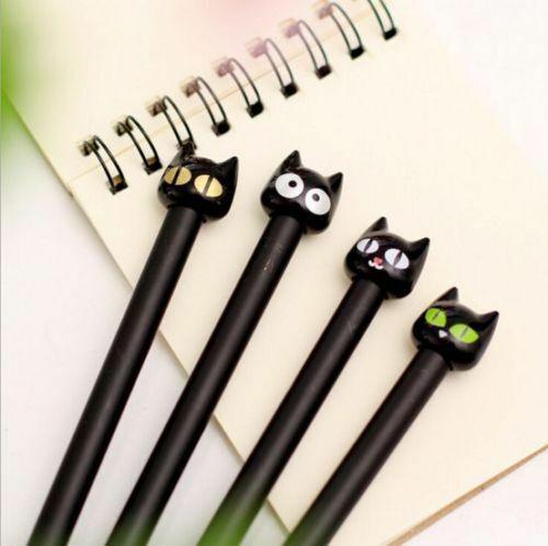 Cute Kawaii CAT PEN Stationery Animal School Lucky Black Cat Pens Gift CHRISTMAS
