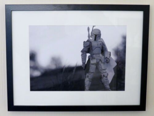 "Star Wars /""Prototype Boba Fett/"" Toy Art Framed A4 Printed Poster Prints Image"