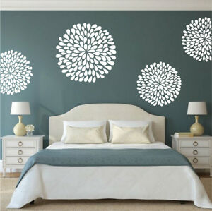 Details about Poppy Wall Decal Floral Bedroom Wallpaper Fancy Flowers Art  Removable Vinyl, b74