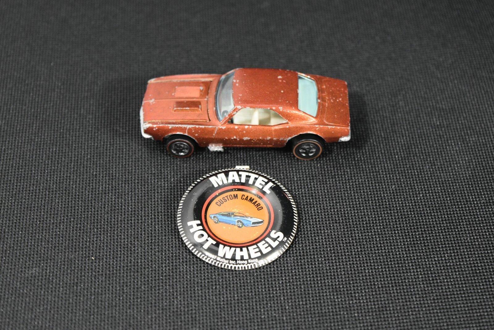 ¡no ser extrañado! Hot Wheels rojoline Personalizado Original 1967 Camaro en en en Color naranja con botón  muchas concesiones
