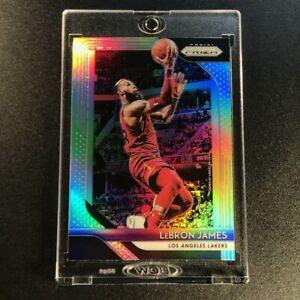 LEBRON-JAMES-2018-PANINI-PRIZM-6-SILVER-REFRACTOR-PARALLEL-CARD-CAVS-LAKERS-NBA