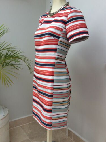 S Anthropologie Striped Taglia Fitted Dress Dress Bnwt Hutch wUwSxqg