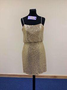 BNWT-Eternity-short-dress-style-22703-gold-sequin-size-10