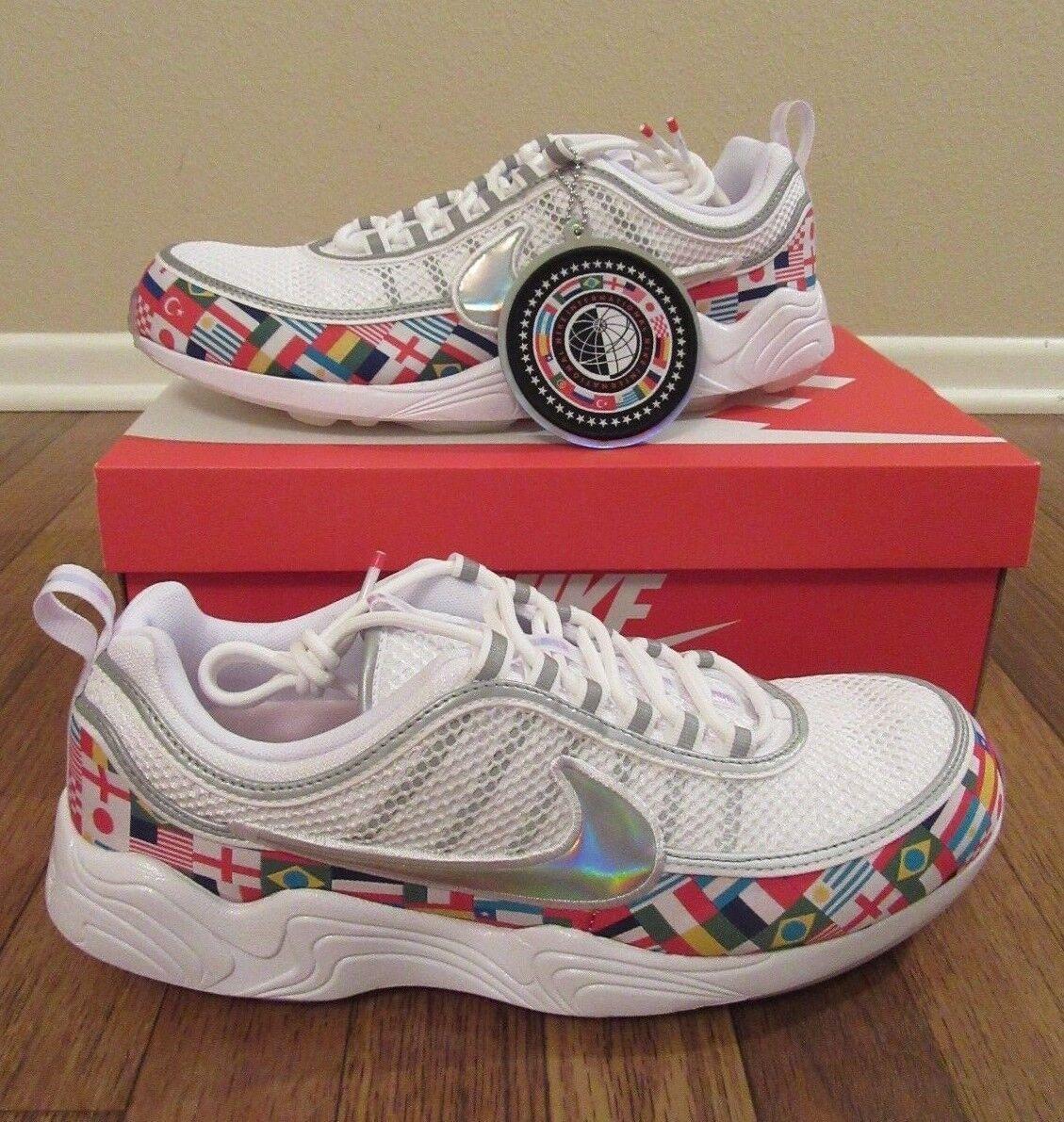 Nike air zoom spiridon 16 nic bianco qs dimensioni multi - ao5121 100 internazionali